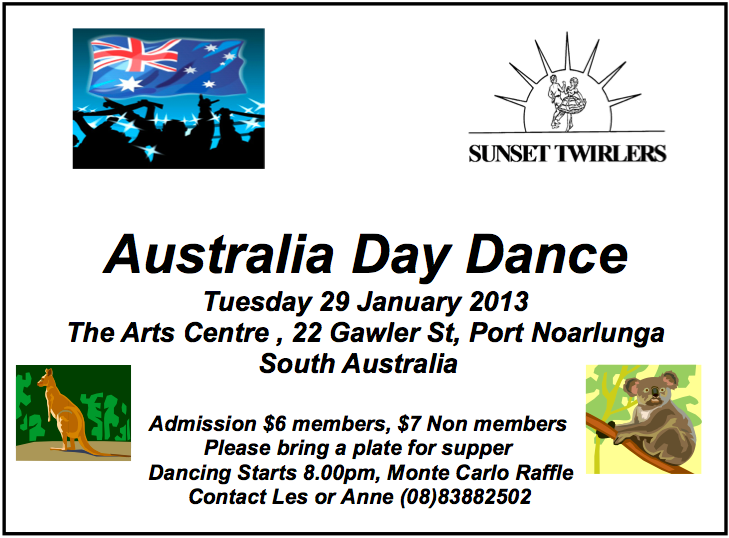 Sunset Twirlers Aussie Dance Ad 2013