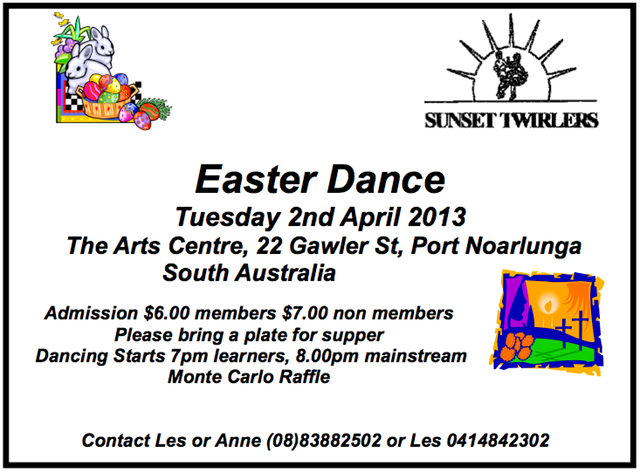 Sunset Twirlers Easter Dance Ad 2013