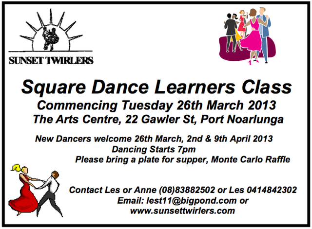 Sunset Twirlers Learners class Ad 2013